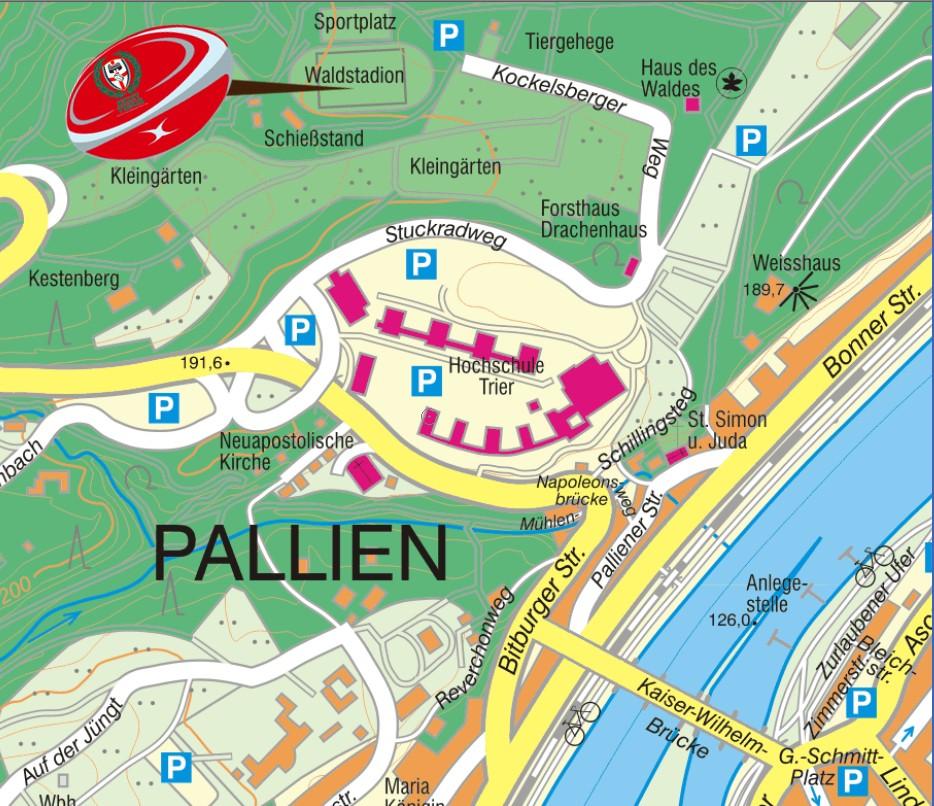 Karte des Waldstadions Trier